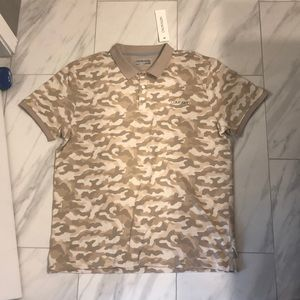 NWT Men's Calvin Klein Brown Camo Polo T-Shirt